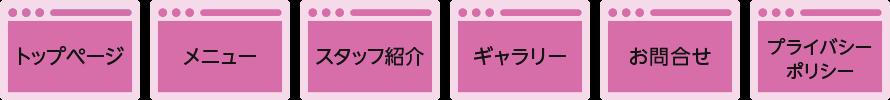 クイックデザインサービス ショップ/店舗向けホームページパッケージSP コンテンツ構成
